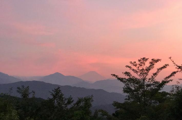 高尾山頂上からの富士