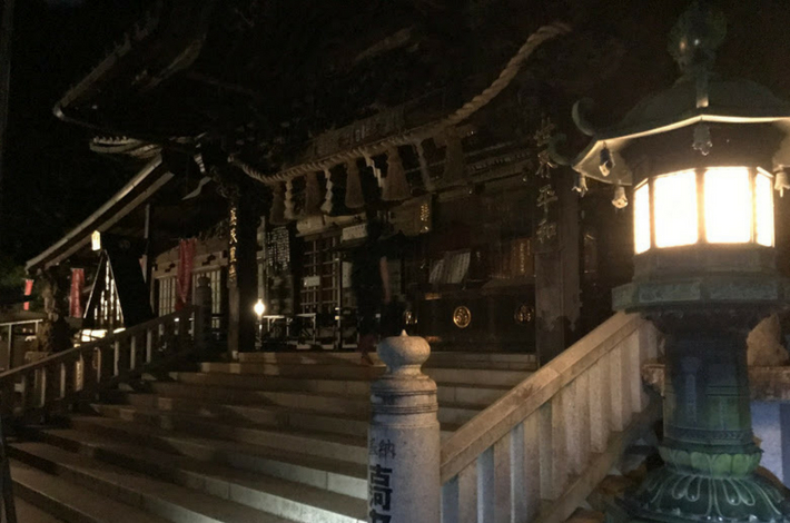 高尾山薬王院の夜