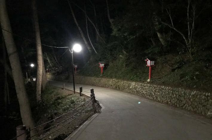 薬王院からの下山道