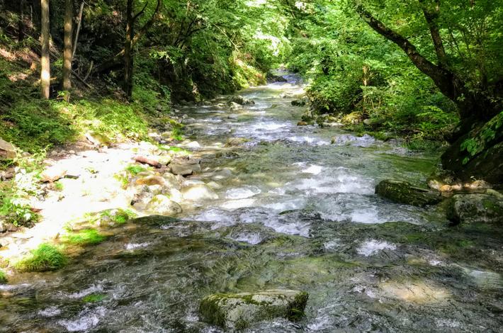 竜神の滝の右側