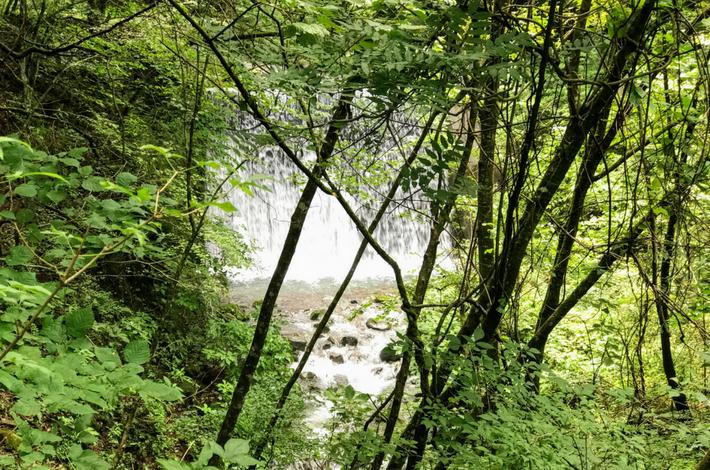 菅平の滝への道 途中にも滝