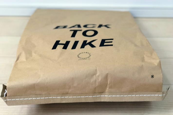 山と道miniのパッケージ底から見た図