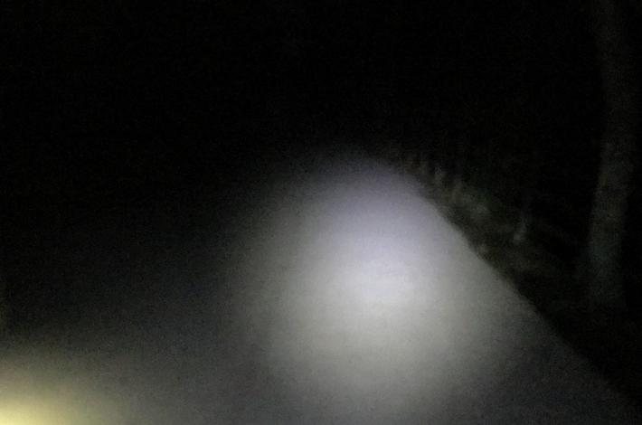 下山時は真っ暗