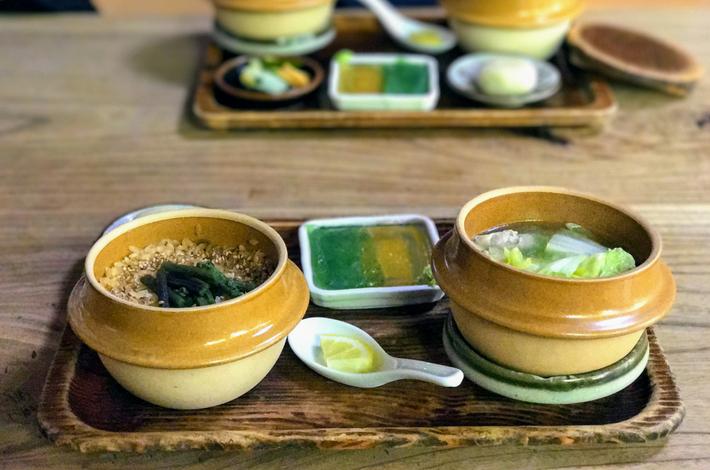 釜飯と水炊きのセット