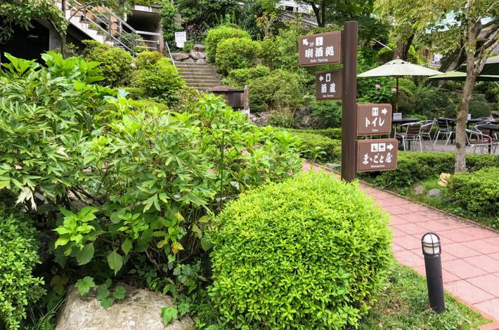 清流ガーデン 澤乃井園の道案内図