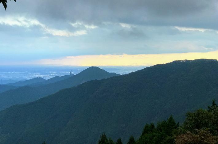 御岳山駅からの帰りの景色