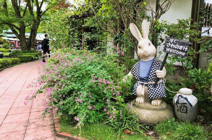清流ガーデン 澤乃井園のうさぎの案内番