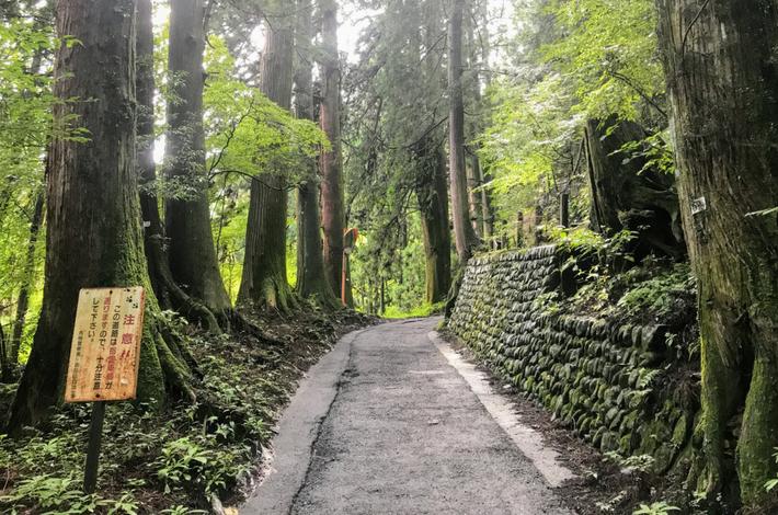 御岳山へ徒歩の参道の様子2
