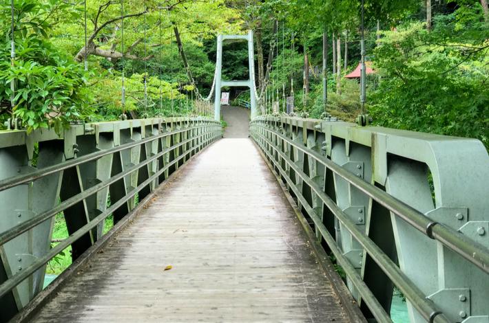 清流ガーデン 澤乃井園からの吊り橋
