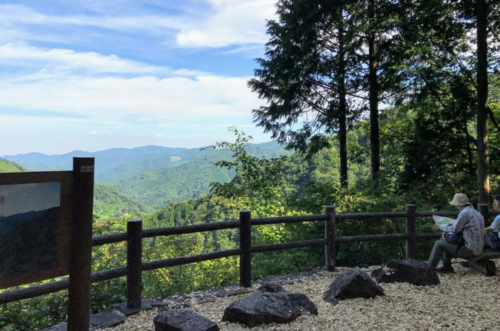 森林セラピーロードからの景色