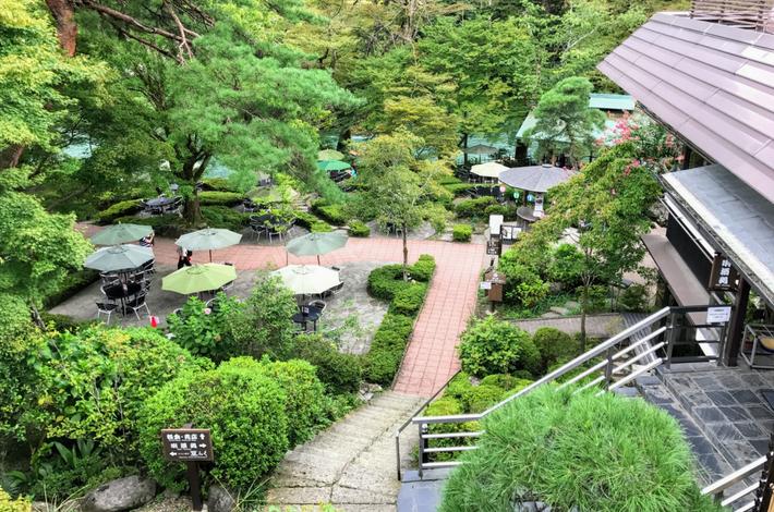 清流ガーデン 澤乃井園の上からみた景色