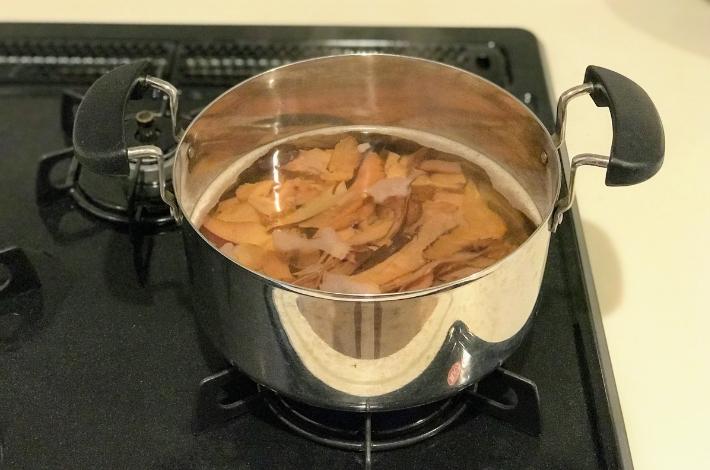 ゼロ活力鍋でおでんを作る時のだしを取っている