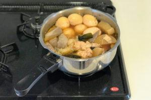 ゼロ活力鍋でおでんを高圧で調理後