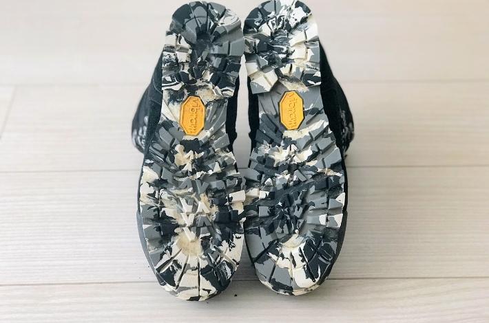コロンビア カラサワIIプラスオムニテックの靴底の全体像