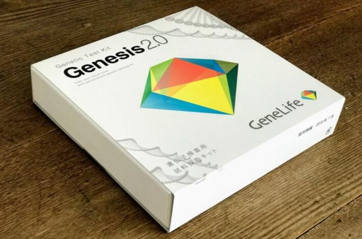 GeneLifeGenesis2.0(ジーンライフ ジェネシス2.0)の遺伝子検査キットの外箱